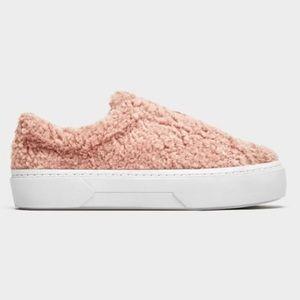 NEW Zara Faux Fur Sneakers Shoes 11